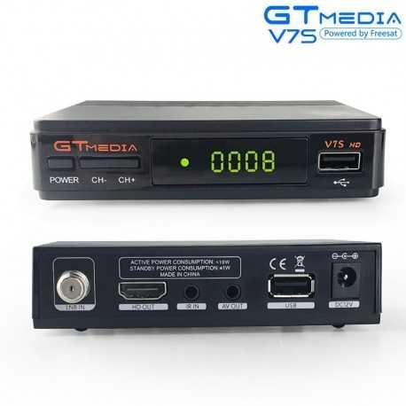 Receptor TV Satélite HD Mini económico, 2x USB, IPTV, Youtube. Antena Wifi Incluida