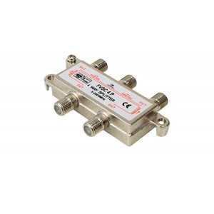 Distribuidor de 4 salidas, 5-2.400 MHz con conector F