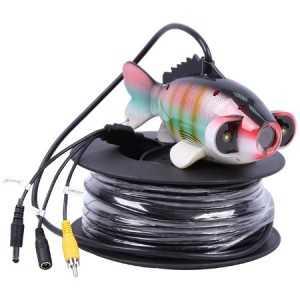 Cámara sumergible forma de pez, con 40 metros de cable y 1000 líneas