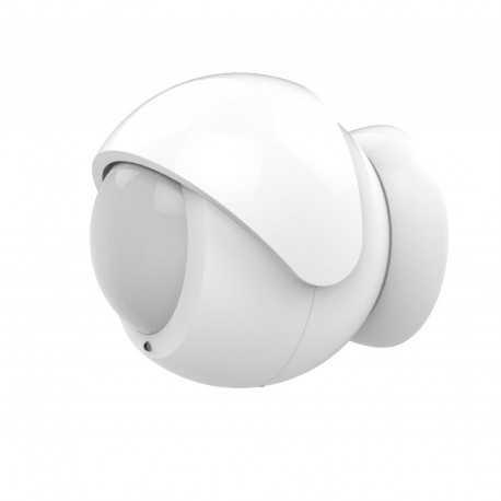 Sensor de movimiento para exterior con soporte magnético y visera de lente IR