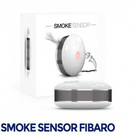 PRODUCTO REACONDICIONADO: Fibaro Smoke Sensor - Sensor óptico de humo y temperatura. FGSD-002