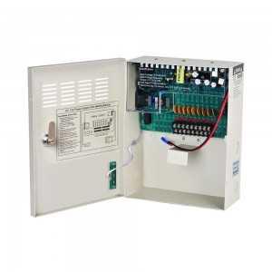 Fuente de alimentación 12V/10A, 9 salidas. 60W