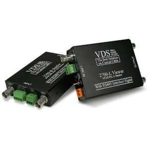 Transmisión de video, audio, DATOS RS-485 y alimentación por cable coaxial RG-59. 12 V DC 1500 mA. Max. 600 m. (incluye TX/RX)