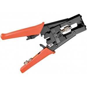 Crimpadora para conectores F/ IEC/ BNC/ RCA waterproof. Para cables RG-59 (4C) - RG-6(5C) y coaxial