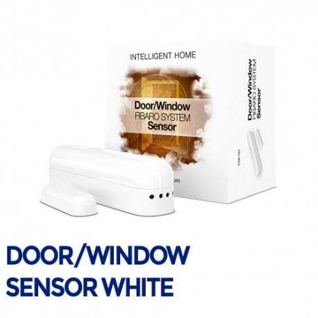 Sensor que monitorea la apertura de puertas, ventanas y garajes. Base + 2º Pieza Imán. Color Blanco