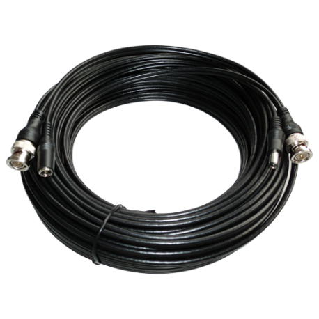 Cable RG 59 + alim. precon. 20mts