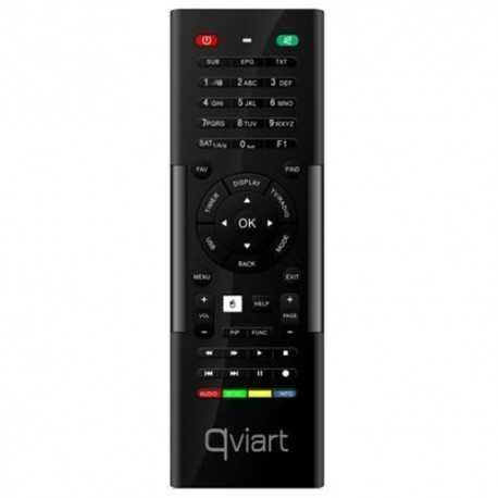 Producto reacondicionado: Mando a distancia original Qwerty (teclado por detrás) y puntero láser, compatible con el receptor Qv