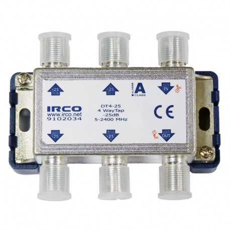Derivador 4 líneas, 25dB, 5-2300 MHz.