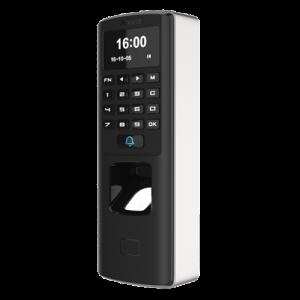 Lector biométrico autónomo para control de presencia y acceso, huellas dactilares, RFID y teclado, apto para exterior anti vand