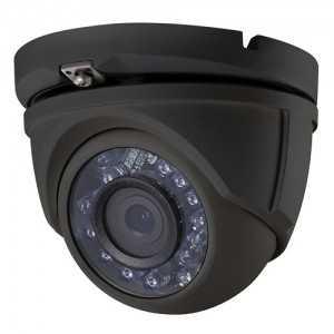 Cámara domo 4 en 1, 1080p, 3,6mm, IR 20mts. IP66, negra
