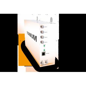 Cabecera transmoduladora compacta con 8 entradas QPSK/DVB-S2 a 8 salidas COFDM y 4CI