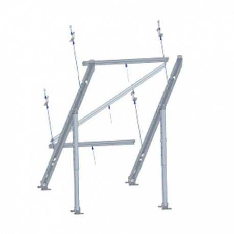Soporte para montaje panel solar en posición vertical, en suelo o pared,10-80º inclinación ajustable