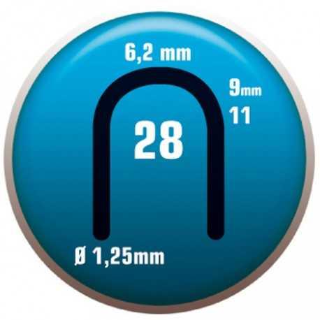 GRAPA 28/9. Grapa color aluminio universal especial para cable telefónico. CLAVEX