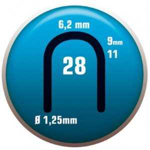 GRAPA 28/9. Para cable telefónico. Color aluminio. Clavex