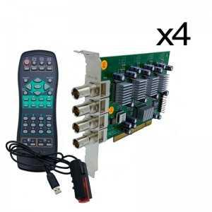 DVR 16 canales formato tarjetas para PC. VP-100 + 3 VP100 EXTRAS