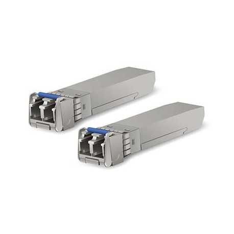 Pack 2 SFP single monomodo, 10 Gbp+. Necesita 2 Fibras (x1 RX y x1 TX). Hasta 10Km