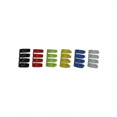 Identificador multicolor para latiguillos de datos. Paquete de 36 unidades