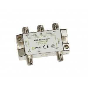 Distribuidor 4 salidas. Con paso de corriente
