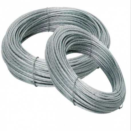 Cable de vientos de acero trenzado, 2 mm, rollos de 50 metros
