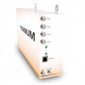 Cabecera transmoduladora compacta con 8 entradas QPSK/DVB-S2 a 4 salidas COFDM y 2CI