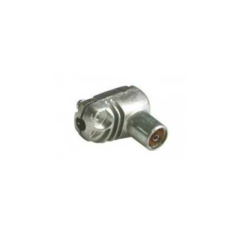 Conector TV hembra blindado acodado 9,5mm