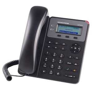 Teléfono IP con 1 línea, NO POE, pantalla LCD de 132 x 48