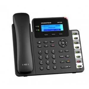 Teléfono IP con 2 líneas, 132 x 48 backlit LCD, x2 puertos Gb, POE