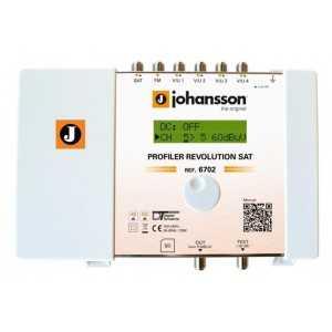 Central programable 50 filtros, 6 Entradas: x1 SAT G:40, x1 FM G: 35db, x4 VHF-UHF G: &gt70db, Salida SAT/FM/VHF/UHF 113dBu.