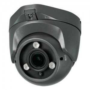 Cámara domo 4 en 1, 1080p, 2.8-12mm, IR 40mts. IP66, negra