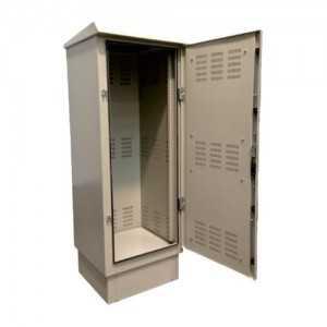 """Rack de suelo 19"""" para exterior, IP55, 42U, F600 / AN600 / AL2250mm con baño especial para ambientes marinos (hostiles)"""