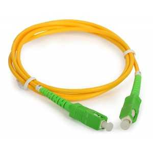 Latiguillo de fibra SC/APC - SC/APC 3mm, G657A2 monomodo, 2mts,color amarillo