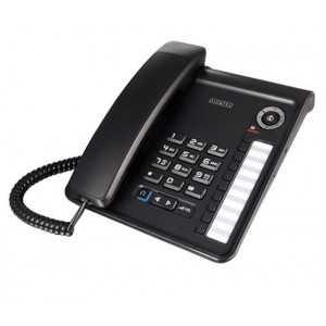 Teléfono analógico de sobremesa, con indicador luminoso de llamadas entrantes y mensajes de voz