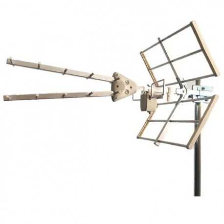 Antena UHF pasiva. 18dB. C60. 11 Elementos
