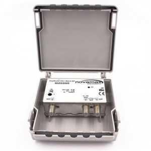 Amplificador de mástil 2 Entradas. UHF/ Mezcla satélite, 30dB, ajustable 20dB,104/107dBuV