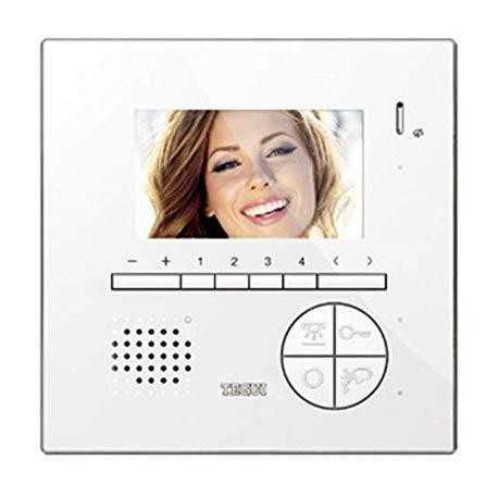 Monitor Clase 100 V12E, manos libres, color, 2 hilos. Tegui