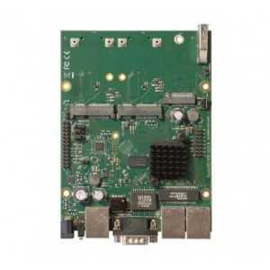 Routerboard 2 Cores a 880MHz, 256Mb de RAM, 3 puertos Gb, 2x miniPCI-e, 2x Slot SIM, USB, microSD