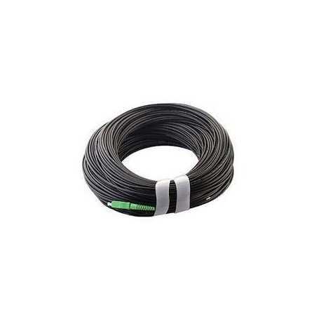 Pigtail de exterior, G657A2 SC/APC, 100mts, polietileno color negro