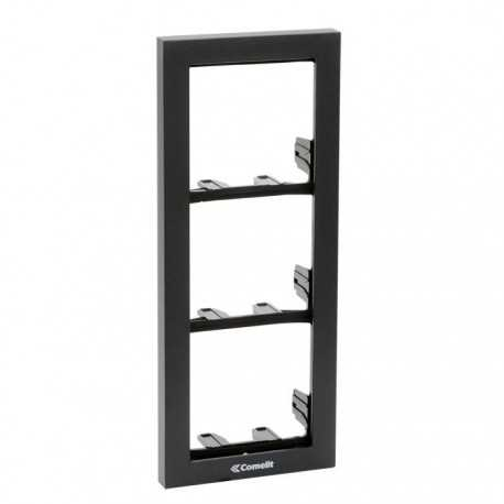 Soporte 3 módulos para placa modelo IKALL, color negro antracita