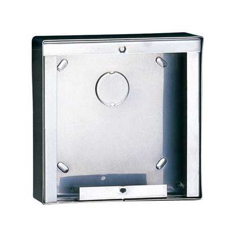 Caja de superficie Ikall de 1 modulo. Dimensiones 123x123x32,5