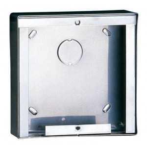 Caja de superficie 1 modulo. Dimensiones 123x123x32,5