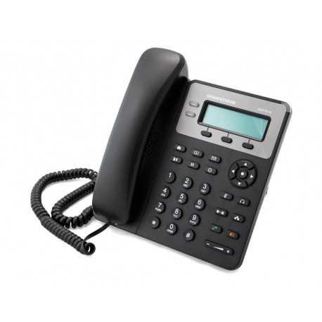Teléfono IP con 1 línea con POE integrado, pantalla LCD de 132 x 48 pixeles, 3 teclas XML programables, conferencia a 3,2 puert