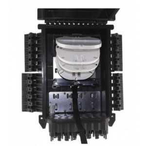 Caja torpedo de distribución IP68 de 96 fusiones, 24 salidas, color negra