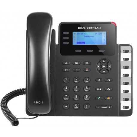 Teléfono IP con 3 líneas, 132 x 64 backlit LCD, 3 teclas XML programables, con POE