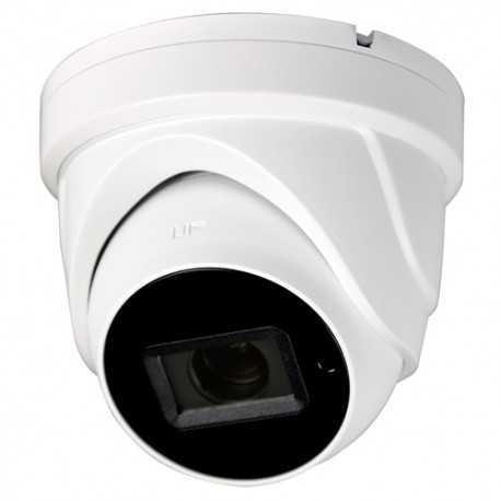 Cámara domo 4 en 1, 5Mpx , 2.7-13.5mm, IR 40mts. IP67, blanca.