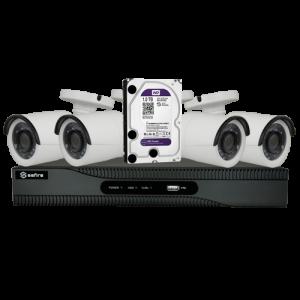 Kit 4 Bullet 1080p + SF-HTVR6104HEVC +1TB