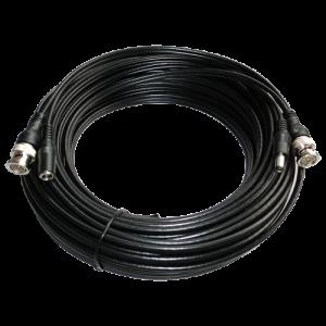 Cable coaxial RG 59 con alimentación preconectorizado con BNC + DC. 30mts
