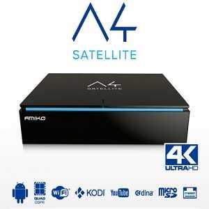Receptor Android SAT (S2), 4K UHD, H.265, 1 Lector tarjetas, Wifi integrado.
