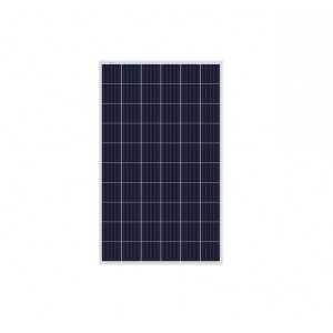 Panel solar policristalino de 270W, 60 células. Eficiencia del 16.9%. Funcionamiento lineal hasta 25 años. Temperatura operativ