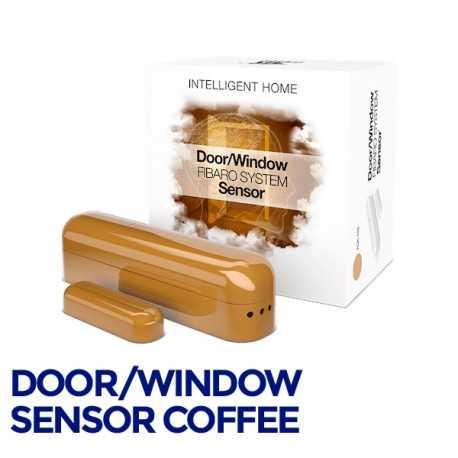 Fibaro Door/Sensor - Sensor apertura puertas/ventanas color café. FGK-105