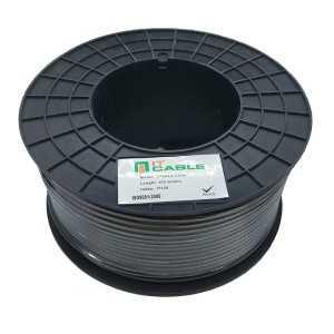 Cable coaxial Tv 1.13 CCA, Malla CCA y lamina de PET. Bobinas de 100 mts. Negro
